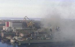 Nga: Tàu ngầm hạt nhân bị cháy trong xưởng sửa chữa