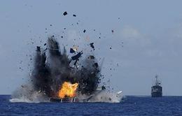 Indonesia đánh chìm tàu cá nước ngoài vi phạm
