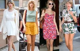 Ngắm váy dạo phố điệu đà của Taylor Swift