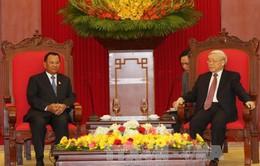 Tổng Bí thư Nguyễn Phú Trọng tiếp Chủ tịch Thượng viện Campuchia