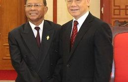 Tổng Bí thư Nguyễn Phú Trọng tiếp Chủ tịch Quốc hội Campuchia