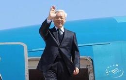 Tổng Bí thư Nguyễn Phú Trọng bắt đầu chuyến thăm chính thức Hoa Kỳ