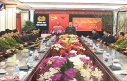 Đại tướng Trần Đại Quang kiểm tra công tác an ninh trật tự tại Lạng Sơn