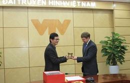 Tổng Giám đốc Đài THVN tiếp đại diện Hãng phim Medved