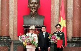 Chủ tịch nước trao các quyết định thăng hàm Thượng tướng