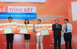 Trao giải cuộc thi Vô địch Tin học văn phòng thế giới 2015 tại Việt Nam