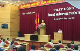 Quảng Ninh phát động ủng hộ khắc phục thiên tai