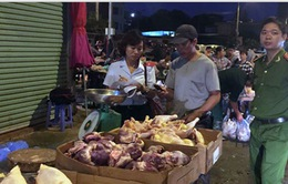 Hà Nội: Nhiều sạp hàng bán nội tạng không rõ nguồn gốc
