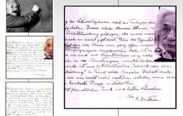 Những bức thư của Einstein được bán đấu giá hơn 400.000 USD