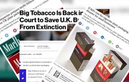 Nhiều tập đoàn thuốc lá tại Anh khởi kiện Chính phủ