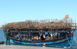 36 thuyền viên gặp nạn trên vùng biển Trường Sa về đất liền an toàn
