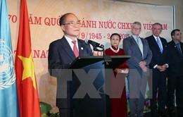 Chủ tịch Quốc hội chủ trì tiệc chiêu đãi mừng Quốc khánh tại trụ sở LHQ