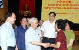 Tổng Bí thư tiếp xúc cử tri quận Ba Đình