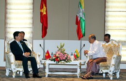 Thủ tướng Nguyễn Tấn Dũng hội kiến Tổng thống Myanmar