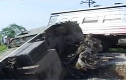 Vụ tai nạn đường sắt ở Phú Thọ: Ách tắc giao thông hơn 10 tiếng