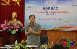 Việt Nam lần đầu tiên tổ chức Kỳ thi Toán quốc tế giữa các thành phố