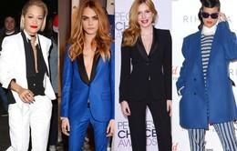 """Sao nữ Hollywood thanh lịch với phong cách """"nam tính"""""""