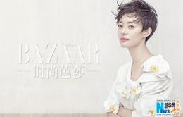 Tôn Lệ cá tính với tóc tém trên tạp chí Harper's Bazaar