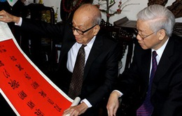 Tổng Bí thư Nguyễn Phú Trọng thăm, chúc Tết Giáo sư Vũ Khiêu