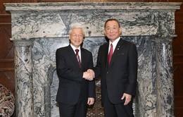 Tổng Bí thư Nguyễn Phú Trọng hội kiến Chủ tịch Thượng viện Nhật Bản
