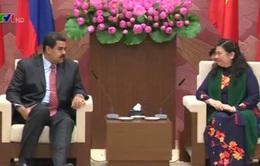 Phó Chủ tịch Quốc hội Tòng Thị Phóng tiếp Tổng thống Venezuela