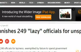 """Trung Quốc phạt 249 quan chức địa phương """"lười biếng"""""""