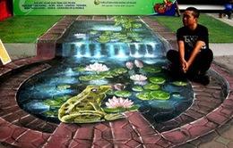 Gặp chàng họa sĩ vẽ tranh 3D lớn nhất Việt Nam