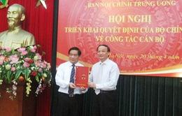Công bố quyết định Phó Trưởng Ban Nội chính Trung ương