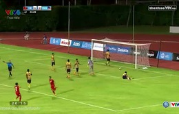 Công Phượng dứt điểm gọn nâng tỉ số lên 2-0 trước U23 Malaysia