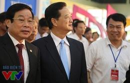 Thủ tướng Nguyễn Tấn Dũng dự khai mạc Triển lãm 70 năm thành tựu kinh tế-xã hội