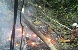 Hiện trường vụ rơi trực thăng ở Malaysia