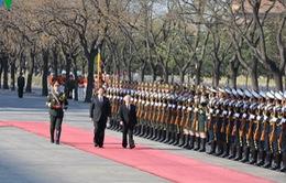 Lễ đón Tổng Bí thư Nguyễn Phú Trọng tại Trung Quốc