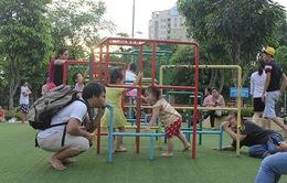 Hà Nội: Mô hình sân chơi mới khuyến khích trẻ vận động