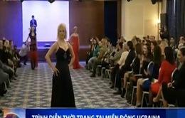 Nữ chiến binh trình diễn thời trang tại miền Đông Ukraine