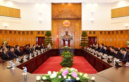 Thủ tướng tiếp các trưởng đoàn dự kỷ niệm ngày truyền thống Công an Nhân dân