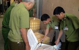 Thu giữ 14 thùng xốp chứa nội tạng bốc mùi hôi thối ở Ninh Bình