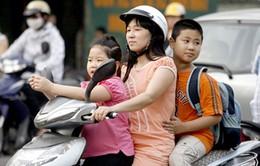 Tuần lễ cao điểm xử lý vi phạm về đội mũ bảo hiểm cho trẻ em
