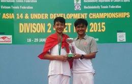 Quần vợt Việt Nam thăng hạng tại U14 châu Á