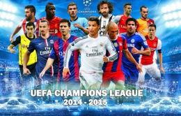 Lịch thi đấu và tường thuật lượt về vòng 1/8 Champions League