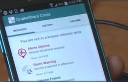 Cảnh báo động đất bằng ứng dụng smartphone