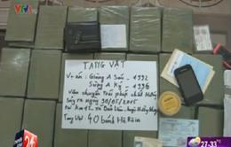 Lào Cai: Bắt 2 đối tượng vận chuyển 40 bánh heroin