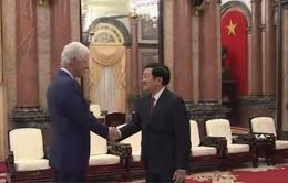 Chủ tịch nước Trương Tấn Sang tiếp cựu Tổng thống Hoa Kỳ Bill Clinton