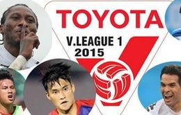 Lịch thi đấu và tường thuật vòng 1 V-League 2015: Công Phượng xuất trận
