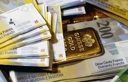 Giá vàng tăng mạnh sau khi Thụy Sĩ bỏ trần tỷ giá