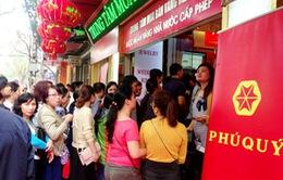 Hà Nội: Phố Trần Nhân Tông chật cứng vì dòng người mua vàng ngày Thần Tài