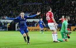 Chọc thủng lưới Man Utd, Vardy đi vào lịch sử Premier League