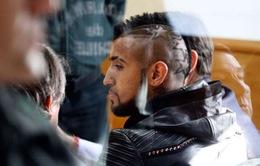 Gây tai nạn, Vidal bị treo bằng lái 2 năm