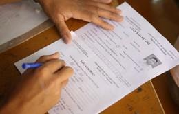 Ngày làm thủ tục dự thi THPT Quốc gia: Kịp thời xử lý các sai sót của thí sinh