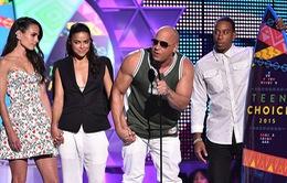 Teen Choice Awards 2015: Fast 7 giật giải, Paul Walker được vinh danh