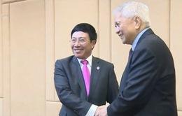 PTTg Phạm Bình Minh hội kiến Bộ trưởng Ngoại giao Campuchia và Philippines